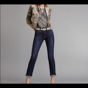 CAbi High Rise Straight Leg Jean